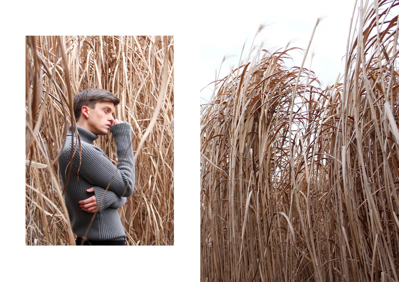 GeorgMallner_Fashion_Outift_Look_Knitted_Turtleneck_Pullover_Coat_Cashmere_50ShadesOFgrey_Fields_editorial_Cornfield_Menswear_Zara_4